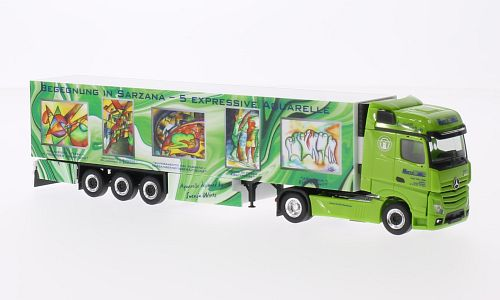 Mercedes Actros Gigaspace, Wirtz Art Truck, refrigerated container-SZ