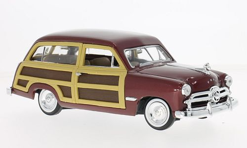 Ford Woody Wagon, metallic-dark red/wood optics
