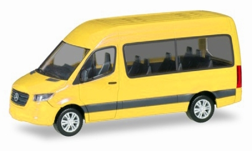 Mercedes Sprinter Bus high roof, yellow
