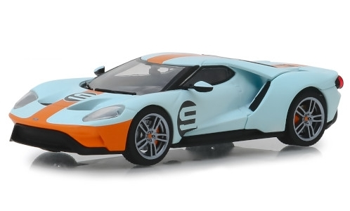 Ford GT Heritage Edition, light blue/orange