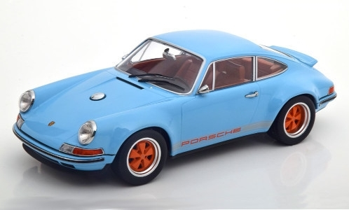 Porsche 911 Singer, light blue/Decorated