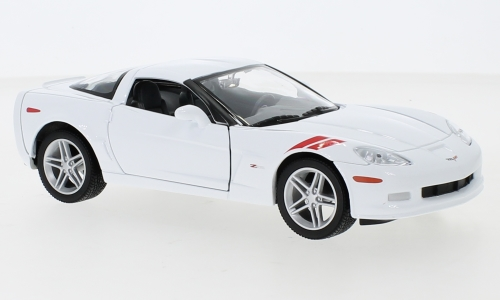 Chevrolet Corvette Z06 (C6), white/Decorated