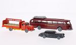 SET Wiking-Traffic-models Nr.9: Mercedes 300, L 3500 bed for beverages and O 6600 H,
