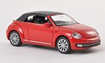 VW Beetle Convertible, red
