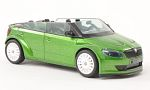 SKODA Fabia RS2000, concept Car, with white wheel rims , metallic-grün