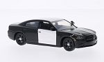 DODGE Charger, undecorated Police vehicle , black/white