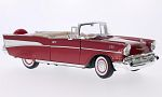 CHEVROLET Bel Air Convertible, metallic-red/white