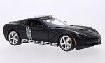 CHEVROLET Corvette (C7) Stingray, matt-black,  Police