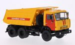 KAMAZ 65115, dark yellow/red