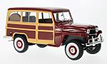 JEEP Willys Station Wagon, dark red/wood optics