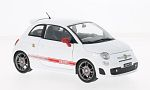 FIAT 500 Abarth, white/red