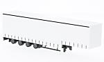AUFLIEGER 4-achs. Jumbo-curtains-trailer, white