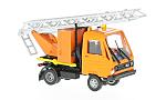 MULTICAR with turnable ladder, orange
