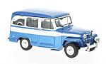 JEEP Willys Station Wagon, metallic-Bl/white