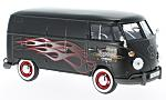 VW T1, matt-black/Decorated