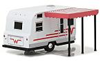WINNEBAGO 216 Travel Trailer, white/red