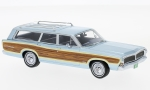 FORD LTD Country Squire, metallic-light blue/Decorated