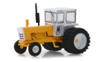 - tractor with cabin, yellow/white