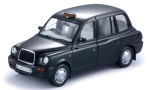 LTI TX1, black, RHD, taxi (GB)